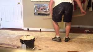 How To Install Glue Down Wood Flooring Installing Glue Down Wood Floors Youtube