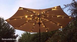 Patio Umbrellas With Led Lights Solar Patio Umbrella Light Kit The Outrageous Best Amazing With