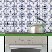 Wallpaper For Kitchen Backsplash Portugal Tiles Stickers Faro Pack Of 16 Tiles For Walls
