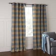Blue Plaid Curtains Iyuegou Classic Country Blue Striola Plaid Eco Friendly Grommet