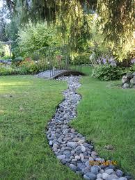 new dry stream in our backyard garden gary u0027s gardens pinterest