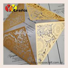 sle indian wedding invitations inc105 floral paper craft 15x15cm gold wedding invitation card set