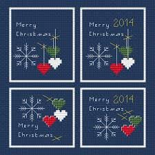 set of 4 mini cards free cross stitch pattern cross