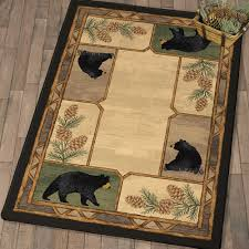 rustic wildlife rugs including moose and bear rugs black forest