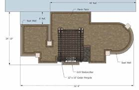 Large Paver Patio Design With Grill Station Bar Plan No by Dreamy Backyard Patio Design With Tub Download Plan