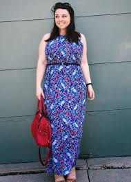 purple maxi dress plus size pluslook eu collection