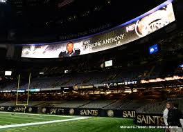 mercedes dome orleans saints unveil high definition end zone boards at