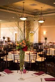 Tall Glass Vase Centerpiece Estera Aaron Abernathy Center Portland Wedding
