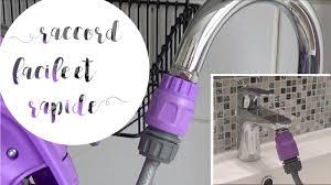 raccord tuyau robinet cuisine raccorder un tuyau d arrosage sur un robinet d évier ou de lavabo