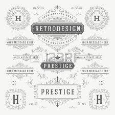 vintage vector ornaments decorations design elements flourishes