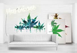 abstract weed modern art ready to hang canvas or ready to frame