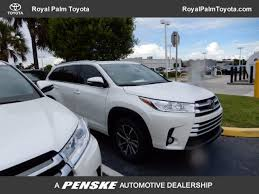 used car toyota highlander used toyota highlander at royal palm toyota serving wellington