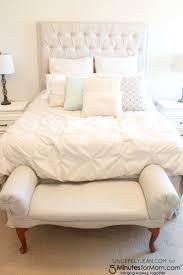 Diy Bedroom Bench Diy Fabric Painted Bedroom Bench Makeover