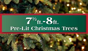artificial prelit christmas trees 7 5 8 ft pre lit artificial christmas trees island