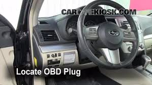 Diagnostic Port Car Engine Light Is On 2010 2014 Subaru Legacy What To Do 2011