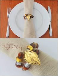 thanksgiving dinner table decor 16 diy napkin ring ideas style