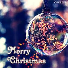 beautiful glass globe merry card yoyo pics