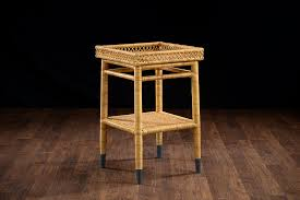 Rattan Side Table Layla Small Rattan Side Table Mecox Gardens