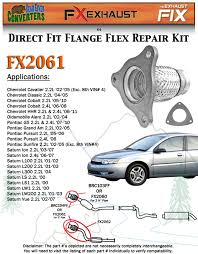 fx2061 semi direct fit exhaust flange repair flex pipe replacement