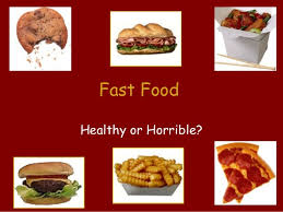 Hs Fast Food Power Point Fast Food Ppt