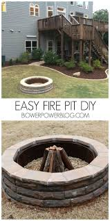 Easy Backyard Fire Pit Designs by 987 Best Home Love Diy Images On Pinterest Outdoor Ideas