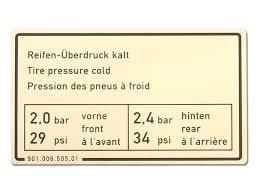 porsche 911 tire pressure sticker tire pressure for porsche 911 porsche