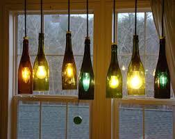 Glass Bottle Chandelier Wine Bottle Chandelier Etsy