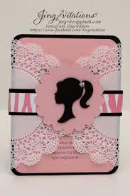 Barbie Themed Invitation Card Best 25 Barbie Invitations Ideas On Pinterest Barbie Birthday