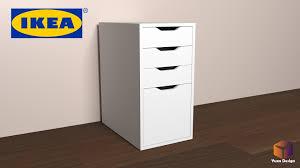 ikea alex desk drawer ikea alex desk drawer unit drop file storage 3d