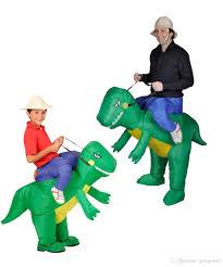 Halloween Costumes Dinosaur Oisk Woman Man Cosplay Inflatable Dinosaur Costume Fan Operated