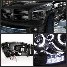 halo headlights for dodge ram 1500 xenon 06 08 dodge ram dual eye halo led projector