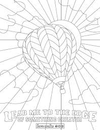 whimsical air balloon coloring page favecrafts com