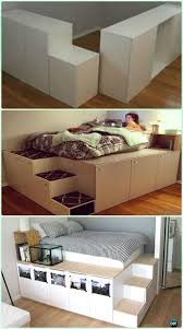 Low Waste Platform Bed Plans by Diy Space Saving Bed Frame Design Free Plans Instructions Bed