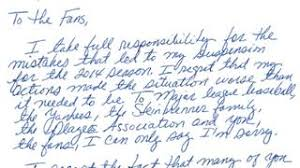 alex rodriguez u0027s letter of apology to fans mlb com