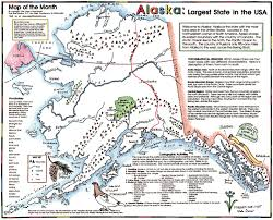 Physical Map Of Alaska by Studying With Your State Map Maps For The Classroom
