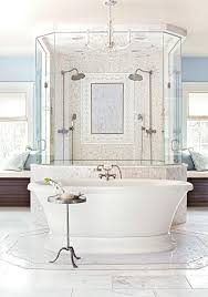 Marble Bathroom Showers Mind Blowing Master Bath Showers Traditional Home