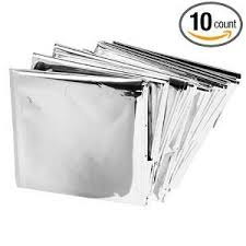 emergency mylar thermal blankets pack of 10