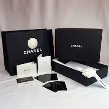 tissue paper box chanel empty purse box tissue paper bag ribbon receipt holder