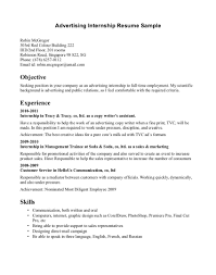 how to write a college resume sle resume internship sle advertising objective effective sles