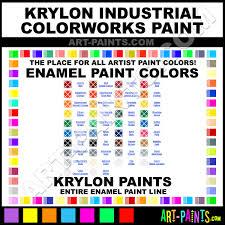 krylon industrial colorworks enamel paint colors krylon
