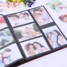 large capacity photo albums 2015 new fashion big leather lattice album 6 inch 400 photos