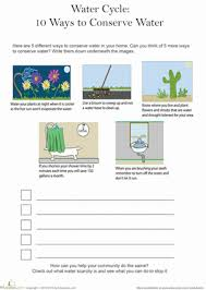 5 ways to conserve water worksheet education com