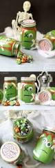 Halloween Candy Jars by Zombie Mason Jars Part Cute Part Spooky And Part Silly