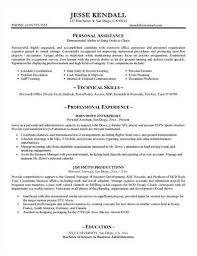 Personal Assistant Sample Resume by Personal Assistant Sample U003ca Href U003d