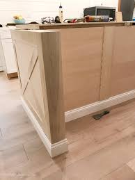 how to install kitchen island base cabinets kitchen island trim and lights the house