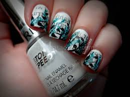newspaper nail art step by with water nail art ideas