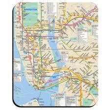map pad mta york city subway mousepad map