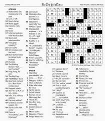 the new york times crossword in gothic may 2014