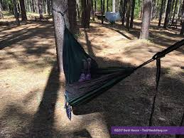review tnh outdoors double camping hammock with tree straps
