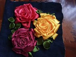 silk ribbon roses 27 best ribbon embroidery images on silk ribbon